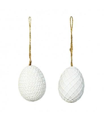 Dekor ägg vita (2p)