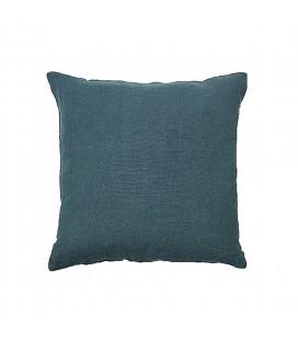 Kuddfodral linne grön/blå