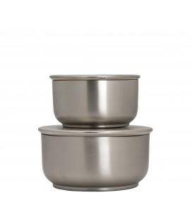 Förvaringsboxar Silver 2 st
