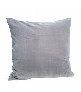 Kuddfodral sammet grå